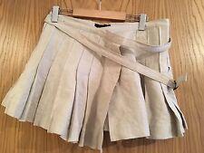 all saints Beige Pleated Skirt