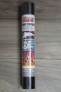 "Siser Easyweed Stretch HTV Heat Transfer Vinyl - 11.8"" x 36"" - Black"