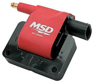 MSD Ignition Coil Blaster Series 1990-1999 Dodge L4/L6/V6/V8 engines Red 8228