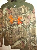 Under Armour Camouflage Hooded Sweatshirt Men's 2XL Loose Fit