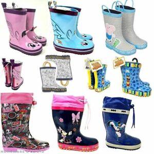 BOYS GIRLS CHILDRENS WELLINGTON RAIN BOOTS WELLIES SIZES 5 6 7 8 9 10 11 12 13 1