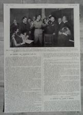 DOCUMENT photo Concert telephone sans fil Guitry Tour Eiffel Lille 1921 clipping