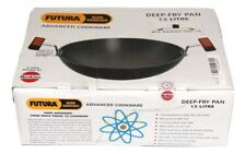 Hawkins Futura Deep Fry Pan 1.5 Litre 22cm Hard Anodised With Stainles Steel Lid