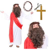 ADULTS JESUS CHRIST RELIGIOUS COSTUME NATIVITY CHRISTMAS EASTER FANCY DRESS