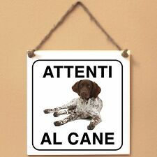 Munsterlander 5 Attenti al cane Targa cane cartello ceramic tiles