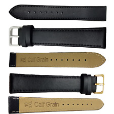 XXL Leather Watch Strap,Super Long Band,Superior Calf Grain,Black,18mm,20mm,22mm