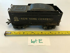 Marx O Train 3/16th New York Central Metal Weighted Gold Letter Coal TENDER LotE