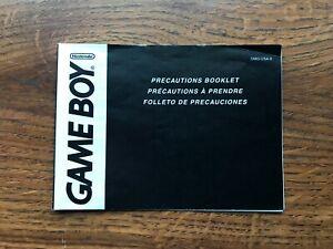 Precautions Booklet Original Nintendo Gameboy Instruction Manual Only