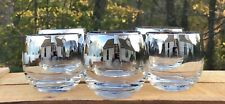 Dorothy Thorpe Silver Fade Roly Poly 12oz Tumblers, Set Of 6