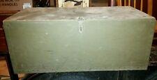 1943 Vtg Shwayder Bros Military Army Trunk Case Locker Box Antique