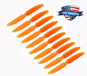 Kirmax 1 pair 5030 3-Blades Direct Drive Propeller Prop CW//CCW for RC Airplane Aircraft Orange