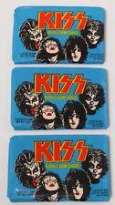 KISS 3 SEALED DONRUSS SERIES I PACKS 1978 AUCOIN