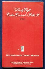 Owner's manual Manuel 1979 Oldsmobile Ninety Eight * Delta 88 (USA)