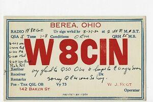 BEREA OHIO  QSL  CARD POSTED 1932