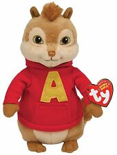 Ty Beanie Baby Alvin, Alvin and the Chipmunks Plush Soft Stuffed Doll Toy Fans
