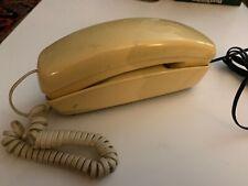 Vintage Western Elect Slimline Touchtone Phone W Handset Cord Wall Mount Cream
