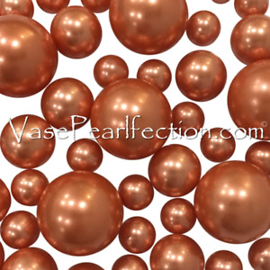 Floating Rose Copper Pearls - No Hole Jumbo/Assorted Sizes for Vase Decorations
