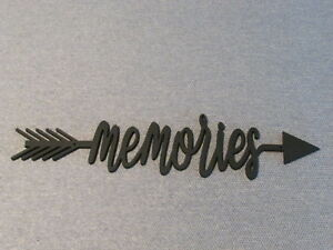 Memories Word Arrow Wood Wall Sign Home Decor