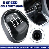 5 Speed Gear Stick Shift Knob Shifter For Ford Mondeo IV C-MAX Galaxy MK2 MK3
