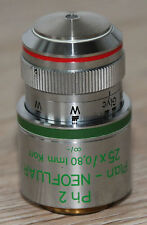 Zeiss Mikroskop Microscope Objektiv Plan-NEOFLUAR 25x/0,80 Imm Korr Ph2