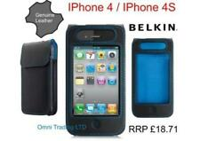 Étuis, housses et coques noirs en cuir pour téléphone mobile et assistant personnel (PDA) Apple