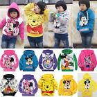 Kids Boys Girls Cartoon Mouse Hoodie Pullover Sweatshirt Hooded Jumper Tops Coat