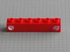 LEGO ELECTRIC-ROSSO 1 X 6 Stud prisma e titolare-TRENO LUCI - (4170 4171)