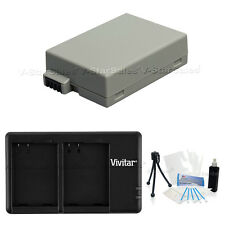 LP-E8 Replacement Battery & USB Dual Charger for Canon EOS T2i T3i T5i 650D 700D