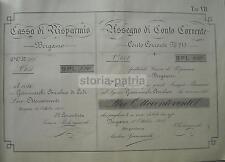 SCRITTURA_CALLIGRAFIA_ECONOMIA_BANCHE_BERGAMO_CASSA DI RISPARMIO_PIOLANGIUSTI