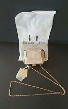 Silvian Heach Crossbody Beige/Gold Purse Chain Leather Clutch Arminia Handbag