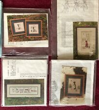 Lot of 4 Vintage Diane Graebner Amish Theme Counted Cross Stitch Patterns