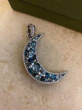 Judith Ripka Sterling Silver 4.80 Cttw Gemstone Moon Pin/enhancer (retired)