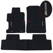 Fits 06-11 Honda Civic 2Dr 4Dr Black Nylon Floor Mat Carpets Front Rear + Spoon