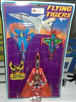 BLISTER SET VINTAGE 3 AIR MODEL TOY HONG KONG AEREI CACCIA TOM CAT FLYING TIGERS