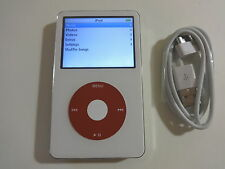 APPLE  IPOD  5.5 GEN.  CUStOM  WHITE/RED  30GB...NEW HARD DRIVE...