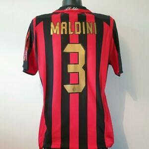 MALDINI 3 AC Milan Shirt - Large - 2005/2006 - Home Jersey Adidas