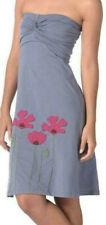 Synergy Organic Clothing Poppy Applique Twist Dress in Cornflower NWT XL