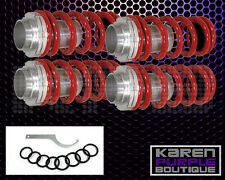 Red JDM Adjustable Suspension FRONT+REAR Coilover Lowering Spring Sleeve Kit