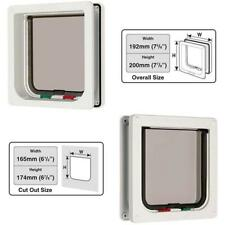 """Cat Mate 4 Way Locking Cat Flap With Door Liner To 50Mm (2""""), White (235W)"""