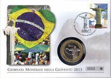 Vaticano NUMISBRIEF/medaglie lettera Gioventù Rio de Janeiro 2013