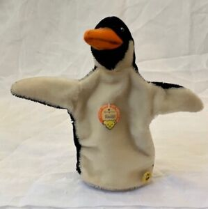RARE! VINTAGE STEIFF PENGUIN HAND PUPPET W/ ALL ID 1946-1969 - 6680/17