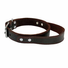 Genuine Leather Dog Collar With Handle Quick Control Adjustable for Labrador M L