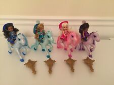 """Barbie And The Three Mini 4"""" Musketeers All 4 Kelly Dolls W/4 Glitter Horses"""