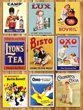 Metal kitchen signs plaque vintage retro style Adverts Camp OXO Bisto wall decor