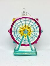 New Ferris Wheel Whimsical  Glass Christmas Tree  Ornament Multi