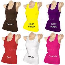 Ladies Womens Racerback Tank Tops Cami Sleeveless T-Shirt Workout Yoga TEE TT400