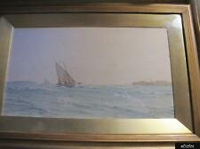 Antique Coastal Scene Watercolour By Henry Branston Freer - Signed & Dated 1912