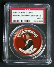 1964 Topps Coins #150 Roberto Clemente Pittsburgh Pirates PSA Mint 9
