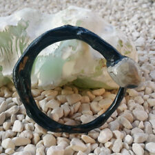 Black Akar Bahar Genuine Handmade Coral Bangle With Bulb Stone Bracelet #41