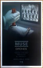 MUSE Drones Ltd Ed Discontinued RARE Poster +FREE Rock Alt Indie Metal Poster!